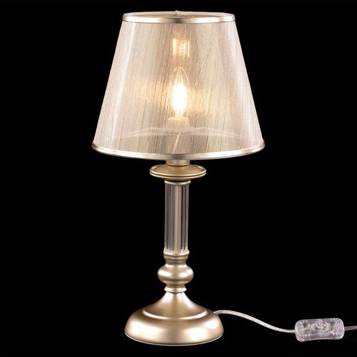 Настольная лампа Ksenia с плафоном бежевого цвета