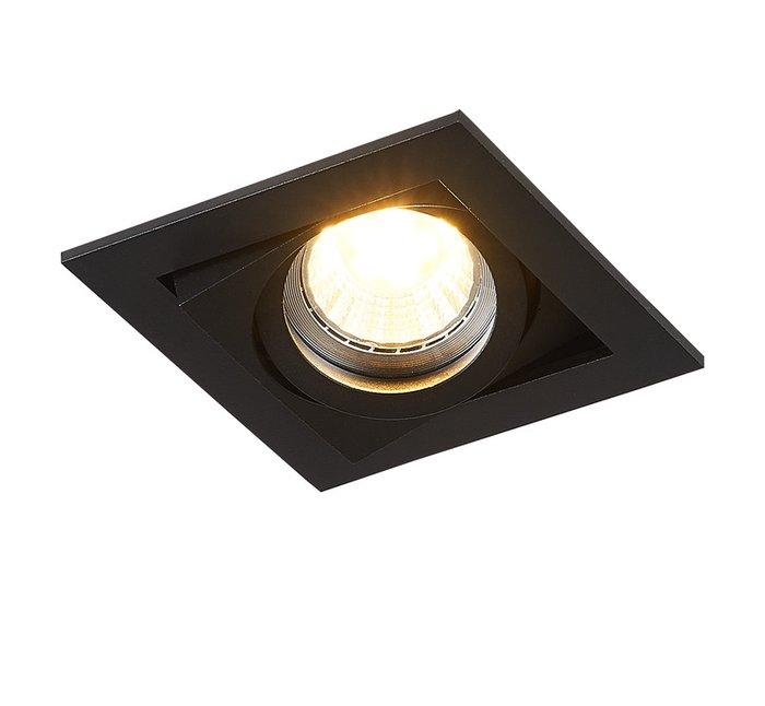 Встроенный поворотный светильник Reni черного цвета