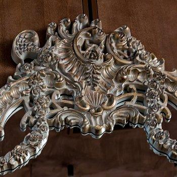 Настенное зеркало Анжелика с золотой патиной