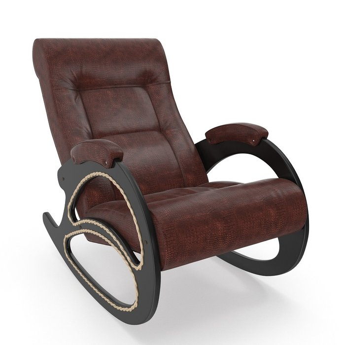 Кресло-качалка модель 4 с отделкой из лозы венге/ Antik crocodile