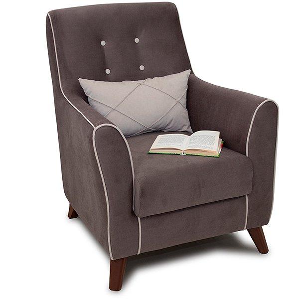 Кресло Френсис коричневого цвета