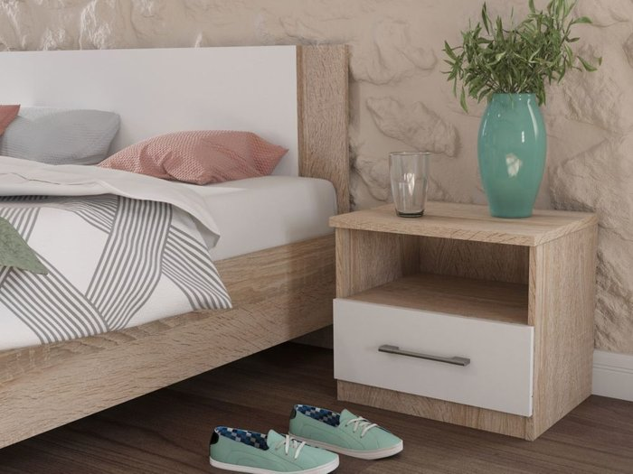 Кровать Аврора 120х200 бежевого цвета