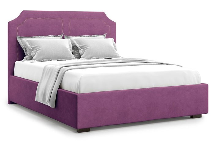 Кровать с подъемным механизмом Lago 180х200 фиолетового цвета