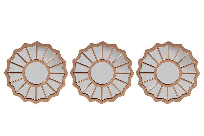 Набор настенных зеркал из металла