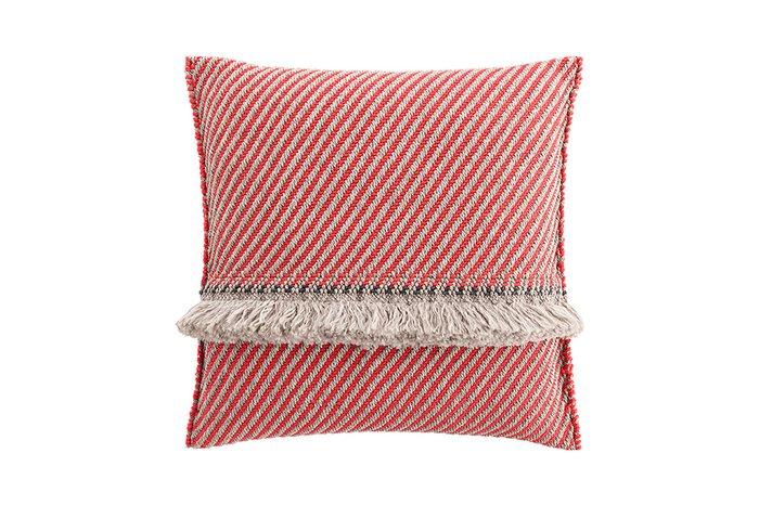 Большая подушка Diagonal almond-red