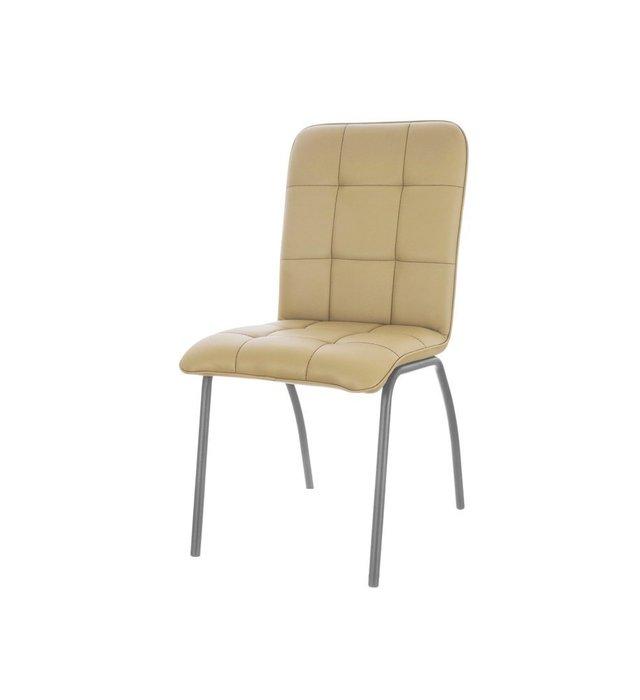 Кухонный стул София №5 Хром бежевого цвета