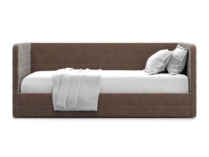 Кровать с подъемным механизмом Brenta 90х200 коричневого цвета