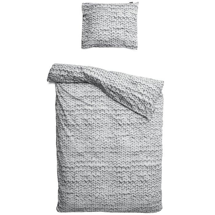 """Комплект постельного белья """"Косичка"""" 150х200 серый"""