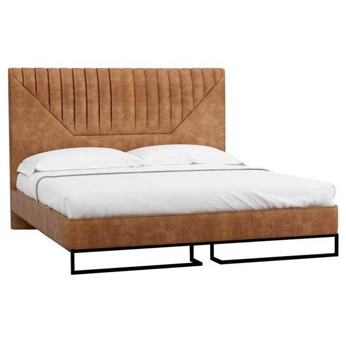 Кровать Loft Alberta_Браун 160х200 коричневого цвета