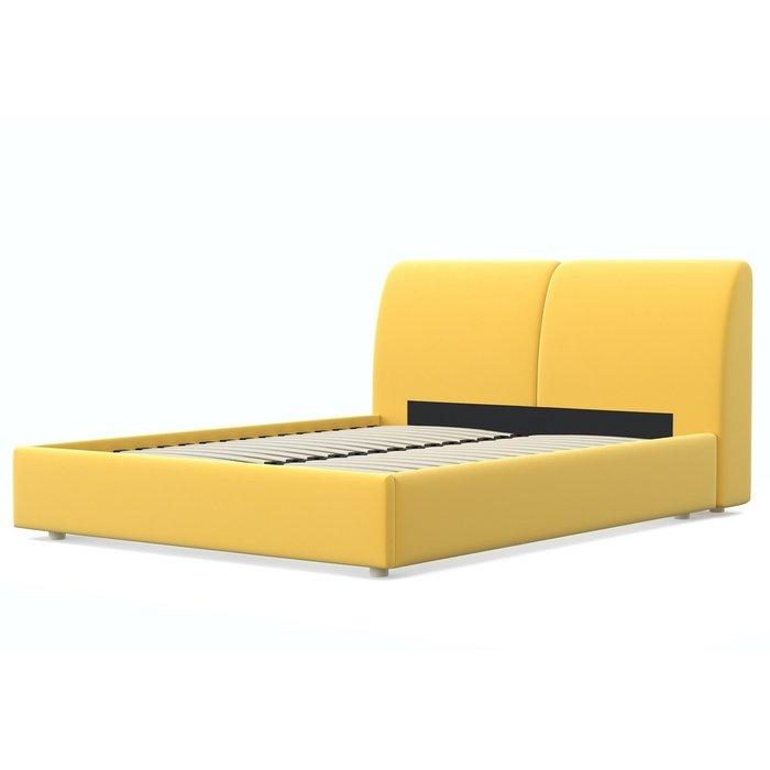 Кровать Бекка 140x200 желтого цвета