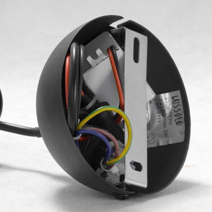 Подвесной светодиодный светильник Cornville черного цвета