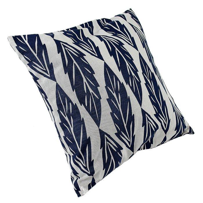Чехол для подушки с принтом Листья из хлопка