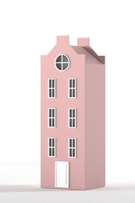 Шкаф-домик Вильнюс Medium нежно розового цвета