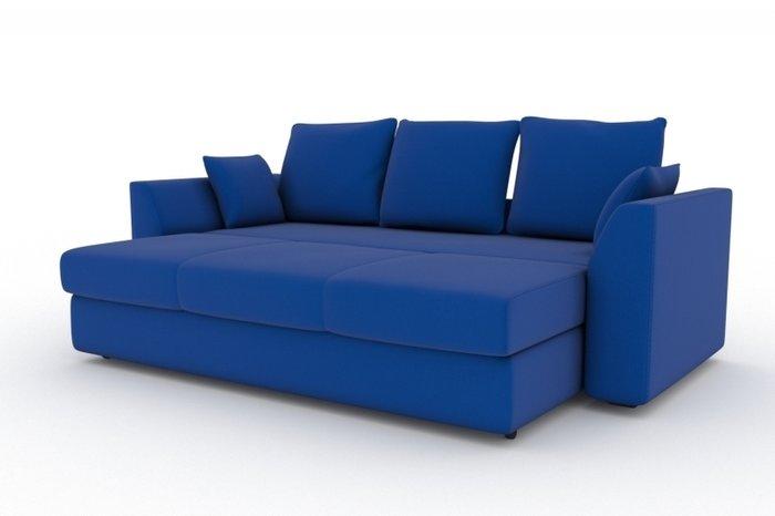 Прямой диван-кровать Belfest синего цвета