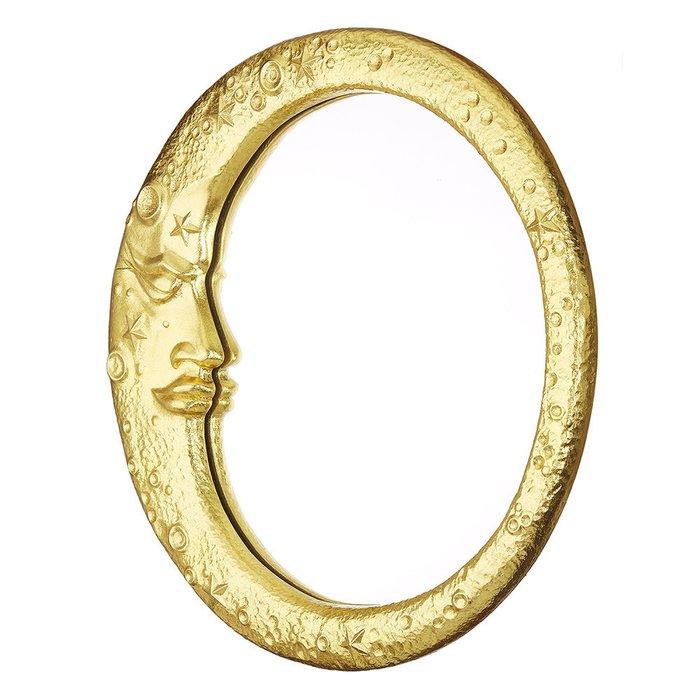 Зеркало настенное Месяц золотого цвета