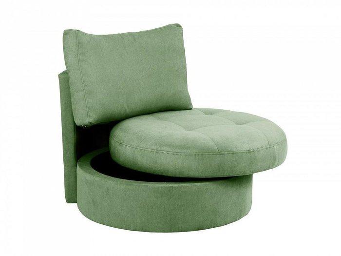 Кресло Wing Round зеленого цвета