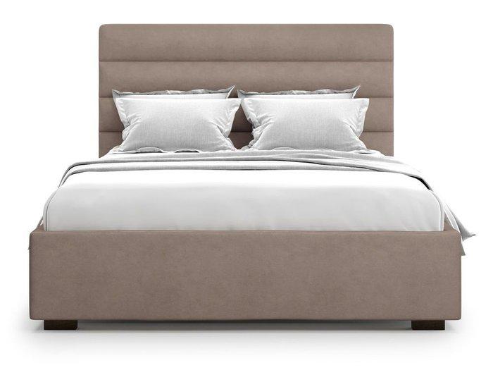 Кровать с подъемным механизмом Karezza 180х200 темно-бежевого цвета