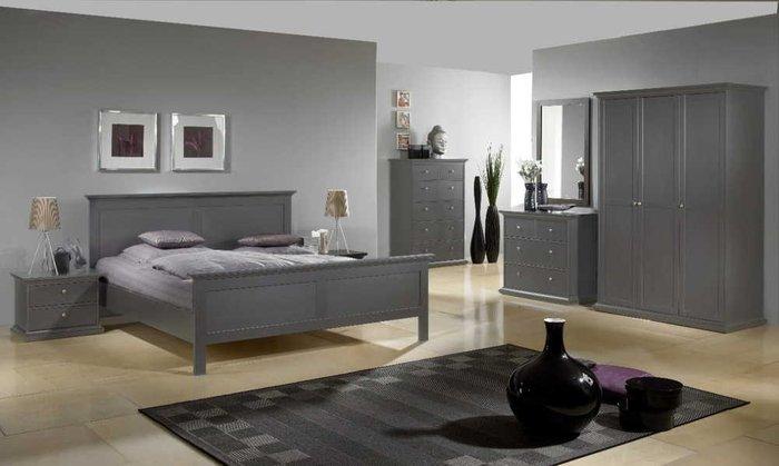 Кровать Paris серого цвета 160х200