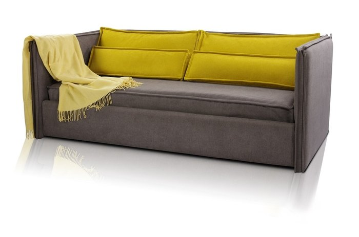 Диван-кровать Solo V3 190х90 серо-коричневого цвета