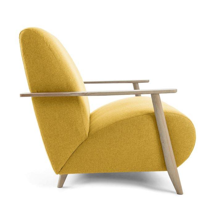Кресло Marthan горчичного цвета