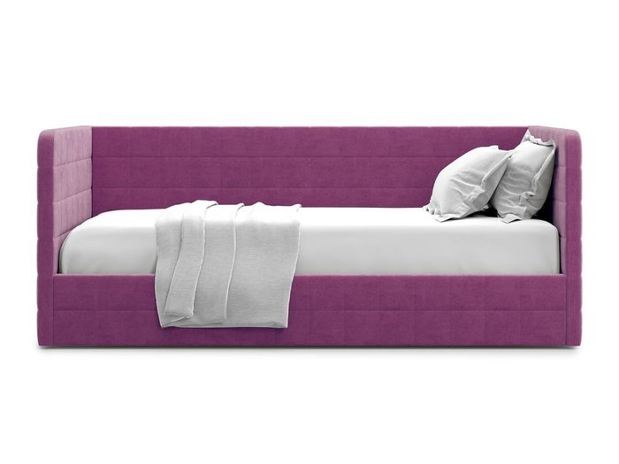 Кровать с подъемным механизмом Brenta 90х200 фиолетового цвета