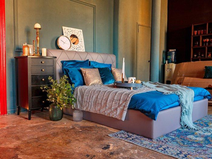 Кровать Ember сине-серого цвета 160х200
