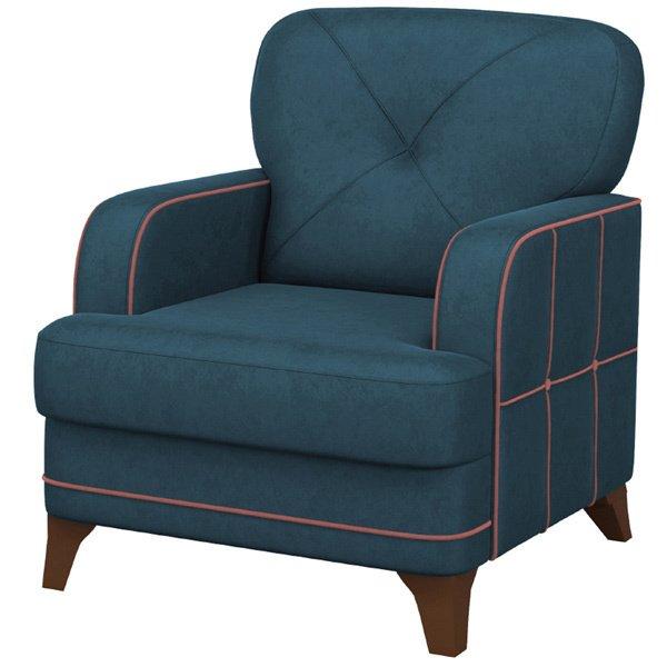 Кресло Черри синего цвета
