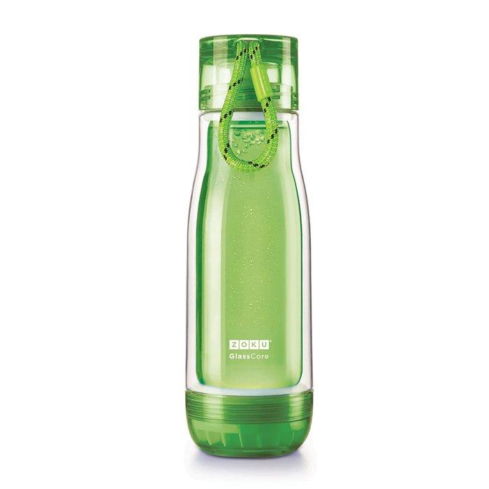 Колба стеклянная 475 мл зеленого цвета