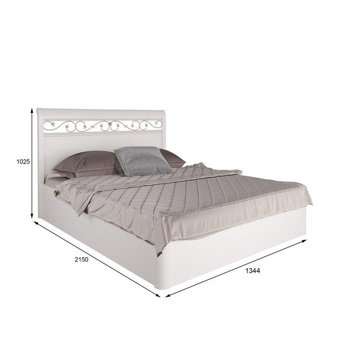 Кровать Белладжио 120х200 белого цвета с подъемным механизмом