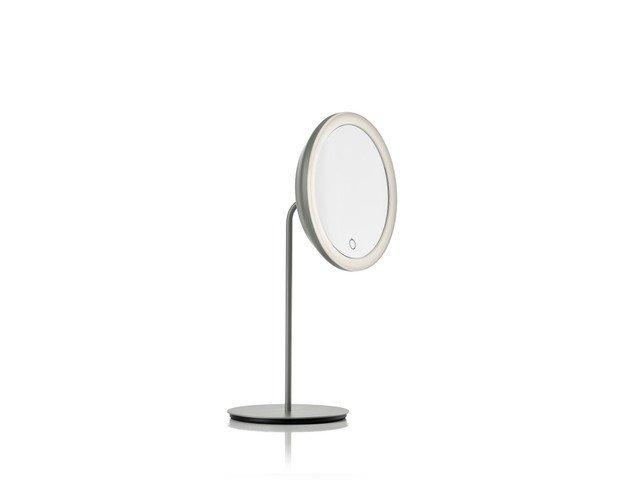 Настольное зеркало Magnif and light серого цвета
