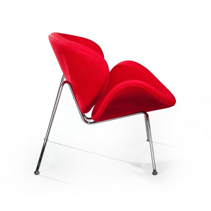 Лаунж кресло Slice красного цвета
