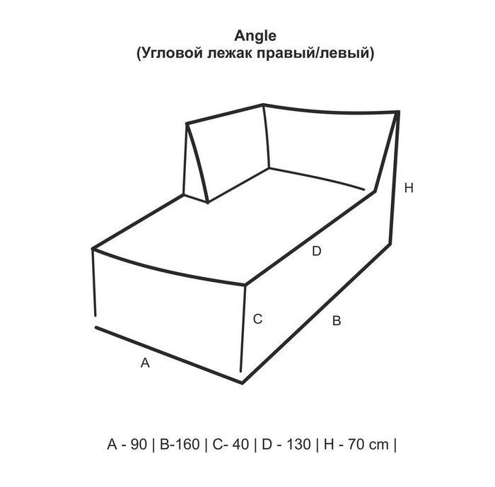 Лежак с подлокотником Angle Design с полосатым принтом