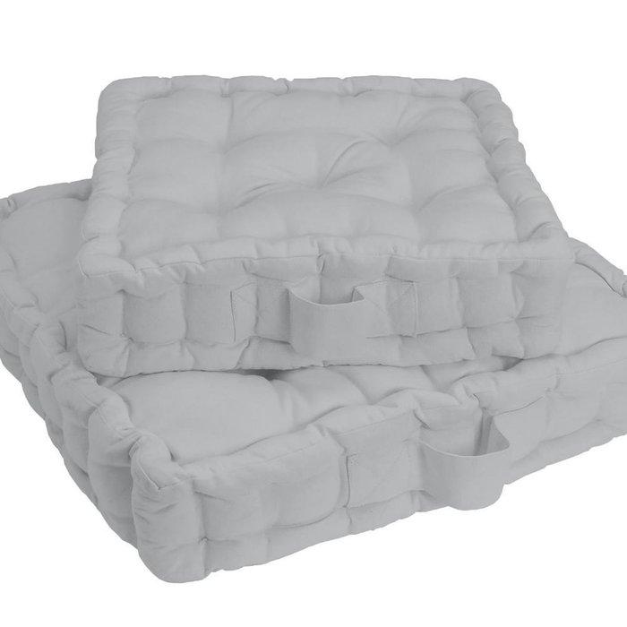 Напольная подушка Scenario светло-серого цвета 50x50x10