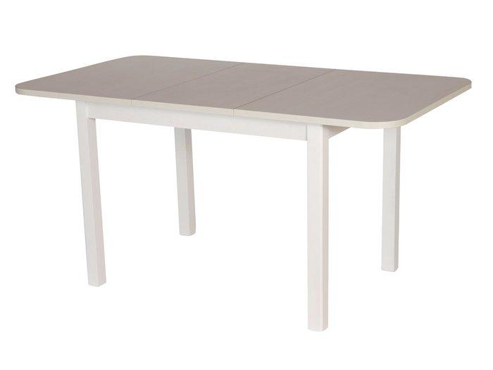 Раскладной обеденный стол Франц бело-бежевого цвета