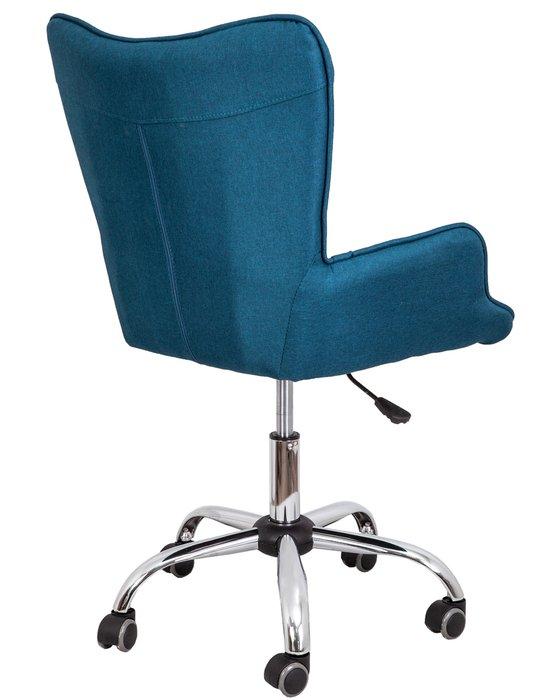 Кресло поворотное Bella синего цвета