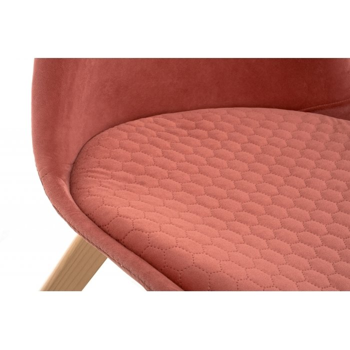 Обеденный стул Bonuss coral кораллового цвета