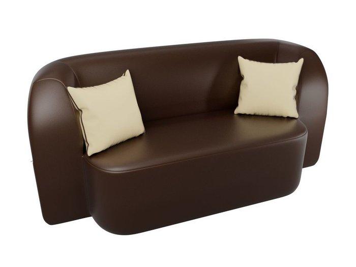 Диван-кровать Томас коричневого цвета (экокожа)