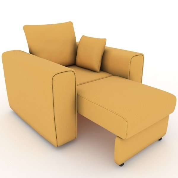 Кресло-кровать Giverny желтого цвета
