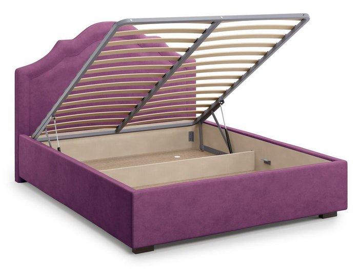 Кровать с подъемным механизмом Madzore 180х200 фиолетового цвета
