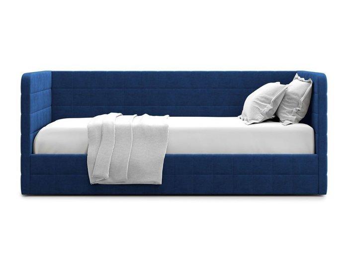 Кровать с подъемным механизмом Brenta 120х200 синего цвета