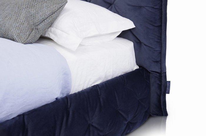 Кровать Club 160х200 c подъемным механизмом темно-синего цвета