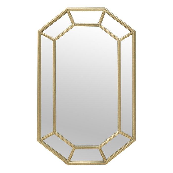 Зеркало настенное в раме золотого цвета