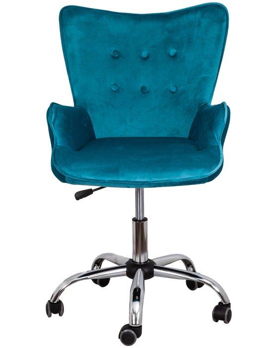 Кресло поворотное Bella бирюзового цвета