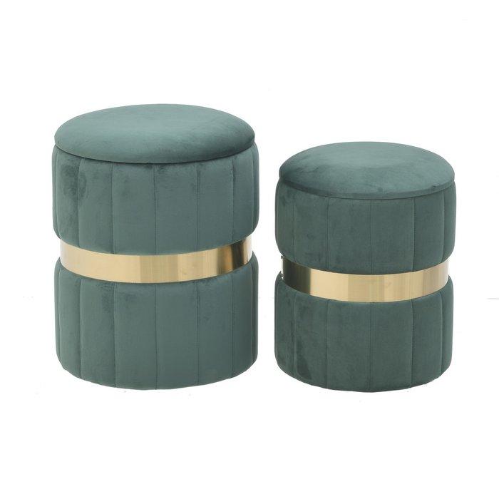 Набор из двух пуф-боксов зеленого цвета