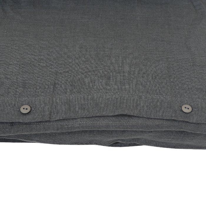 Пододеяльник изо льна темно-серого цвета 150x220