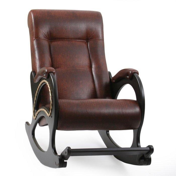 Кресло-качалка Модель 44 коричневого цвета