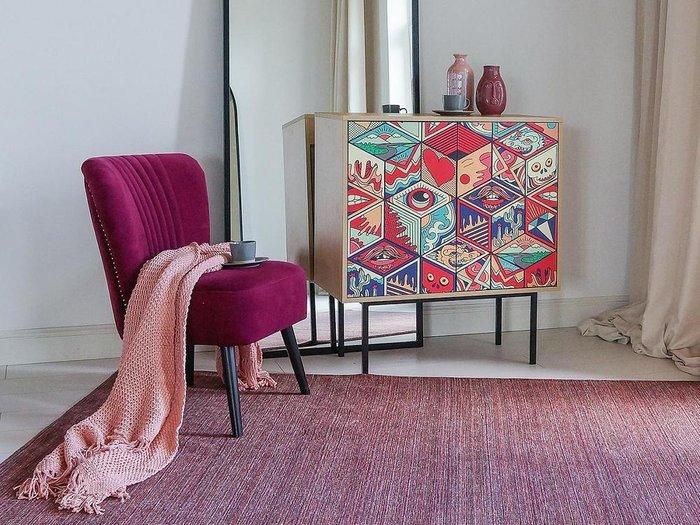 Кресло Barbara бордового цвета
