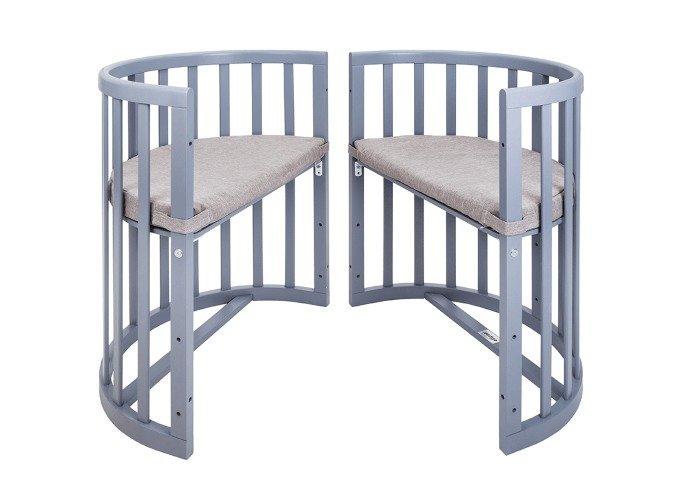 Кроватка-трансформер Ellipsebed 70х120 серого цвета