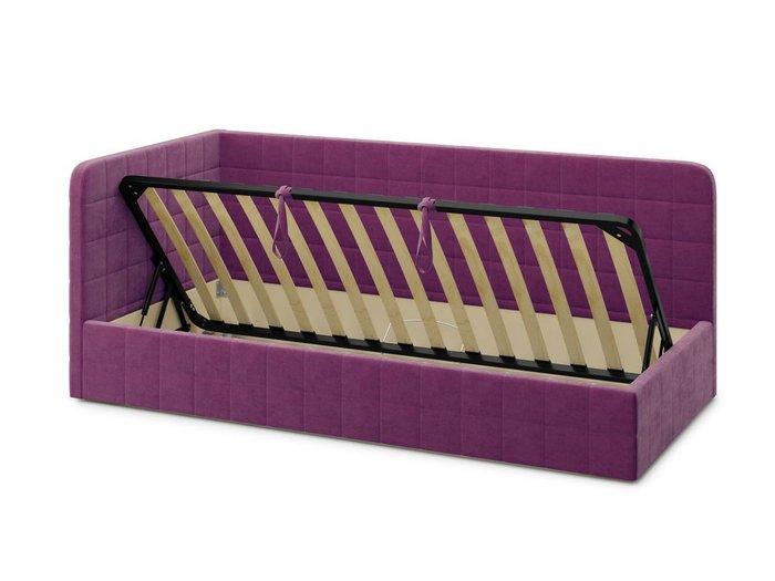 Кровать с подъемным механизмом Tichina left 120х200 фиолетового цвета