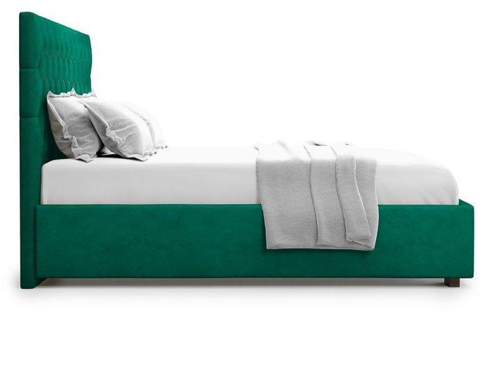 Кровать с подъемным механизмом Nemi 160х200 зеленого цвета